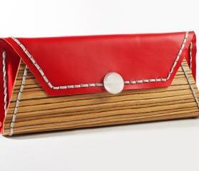wood clutch RWOODB clutch purse